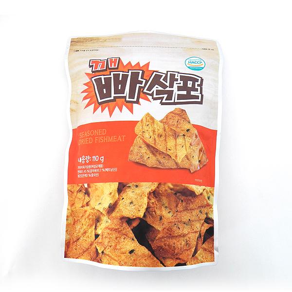한입 깨빠삭포110g 2봉지 / 바삭바삭 식감 좋은 안주